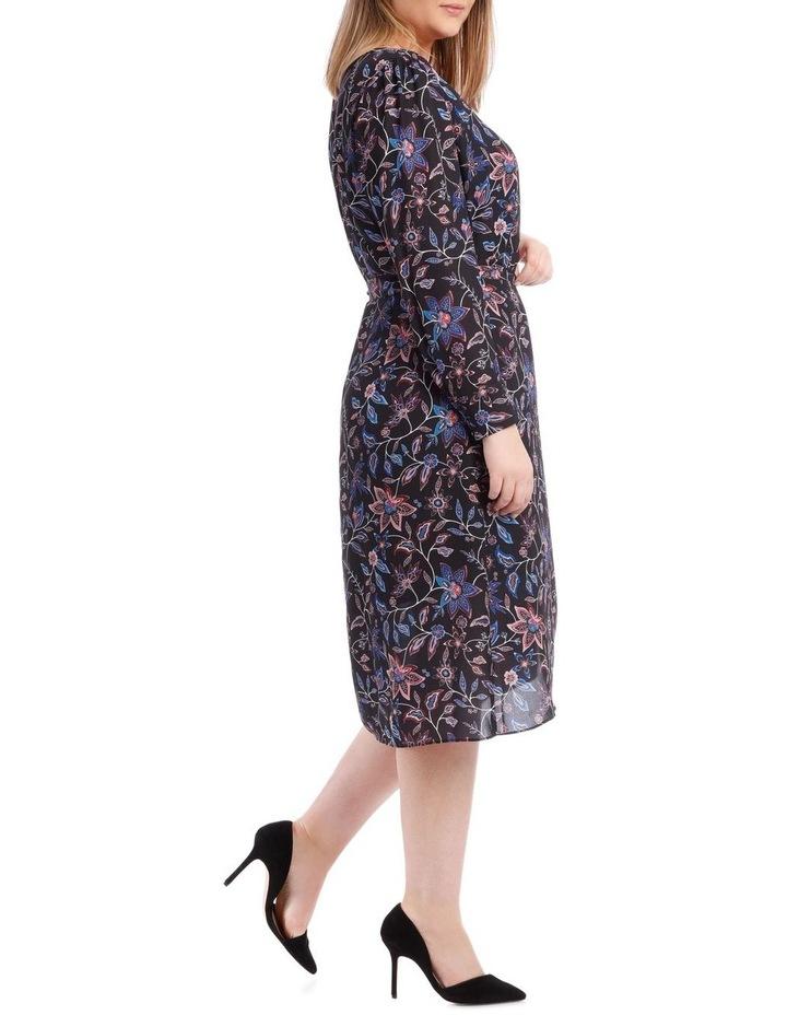 Paisley Long Sleeve Wrap Dress image 2
