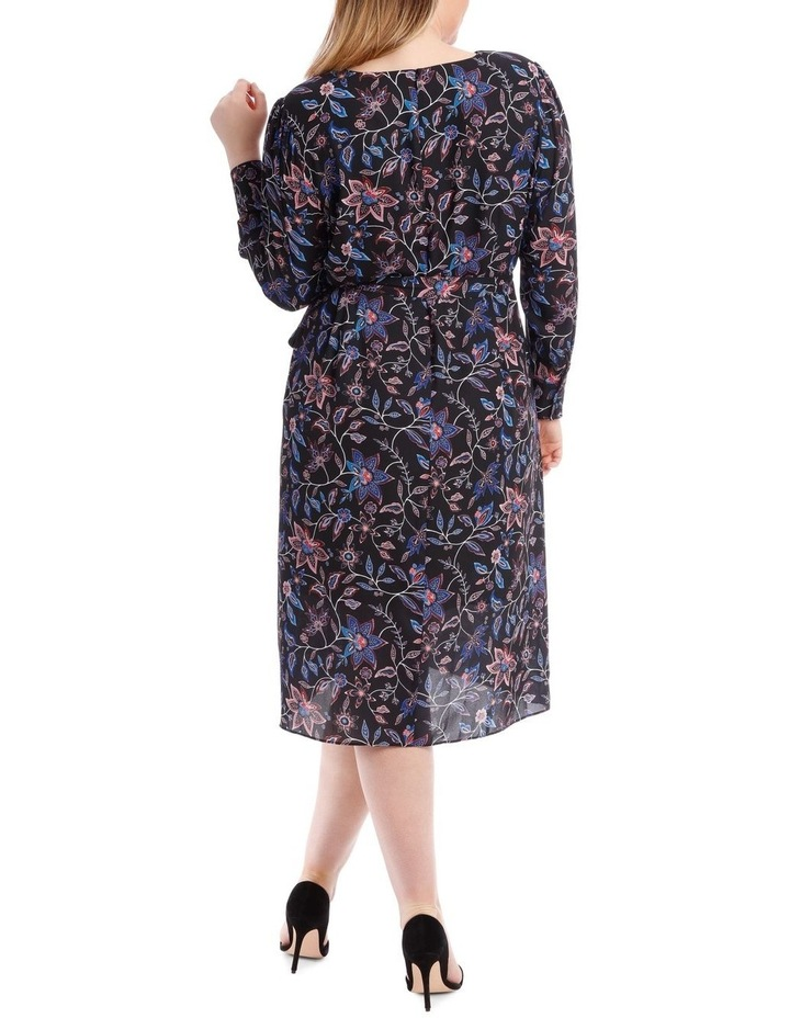 Paisley Long Sleeve Wrap Dress image 3