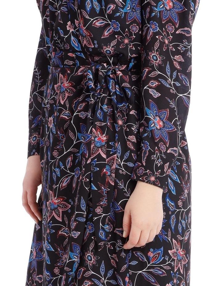 Paisley Long Sleeve Wrap Dress image 4