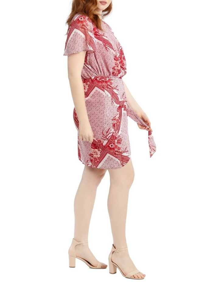 Scarf Printed Apron Front Dress image 2