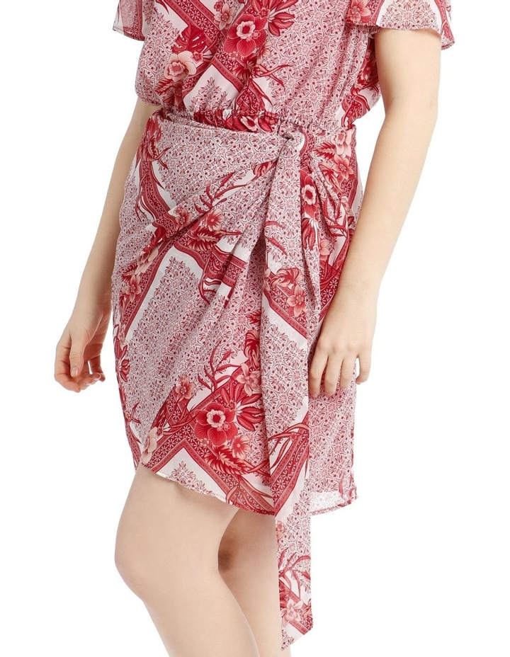 Scarf Printed Apron Front Dress image 4