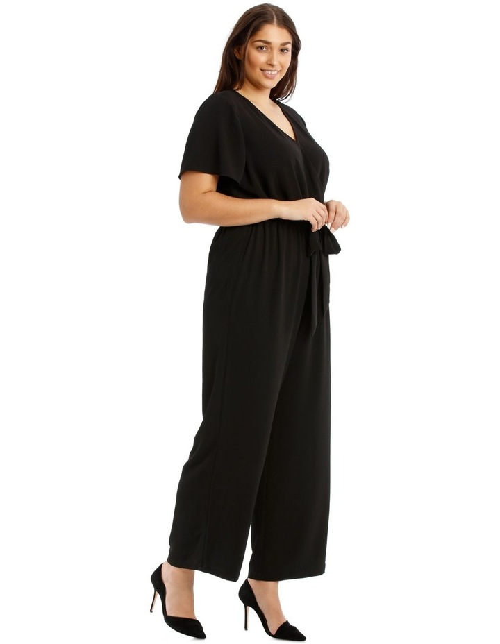 Black Flutter-Sleeve Jumpsuit image 2