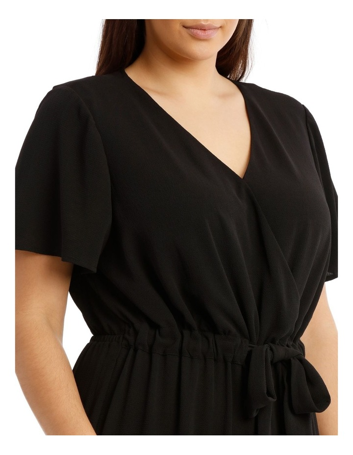 Black Flutter-Sleeve Jumpsuit image 4