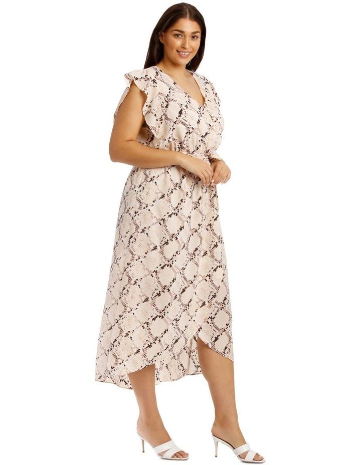 Midi Dress With Waist Tie image 2
