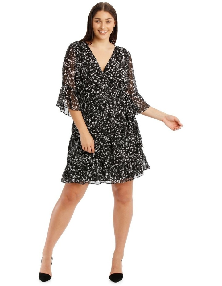 Wrap Dress With Flutter Sleeve image 1