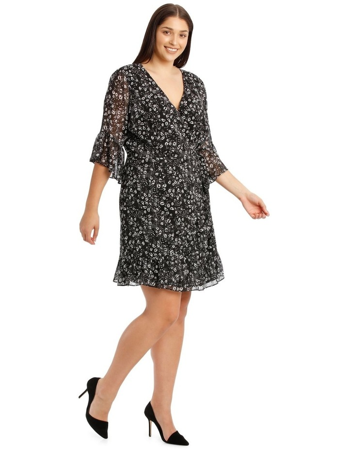 Wrap Dress With Flutter Sleeve image 2