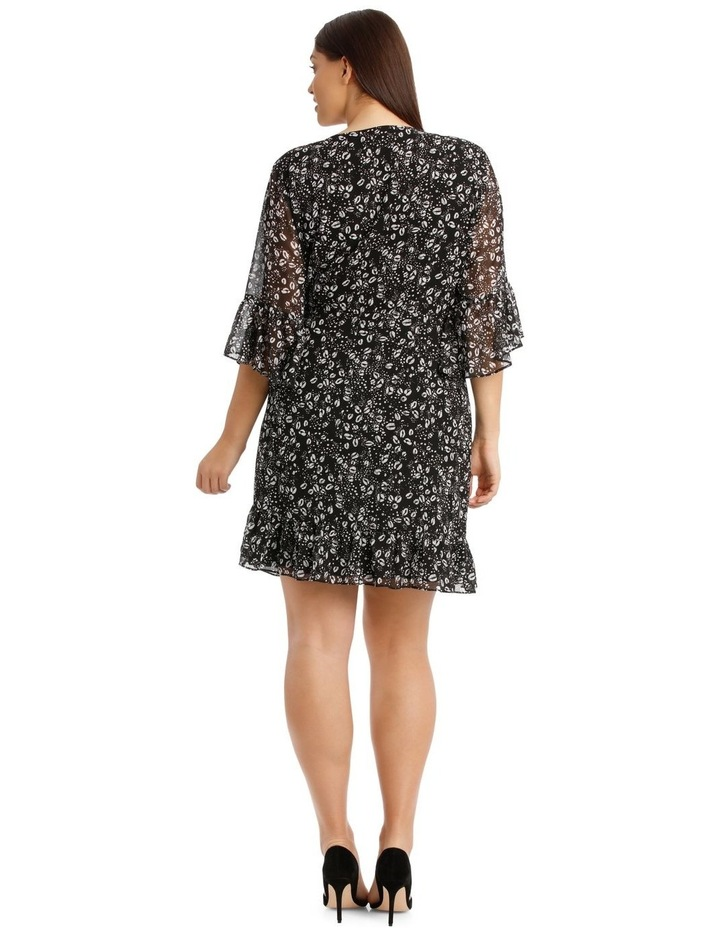 Wrap Dress With Flutter Sleeve image 3