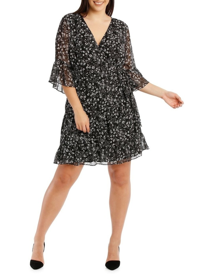 Wrap Dress With Flutter Sleeve image 5