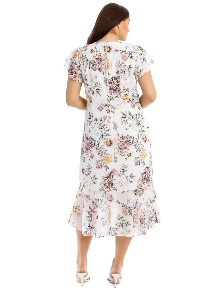 Button Detail Maxi Dress - Floral image 3