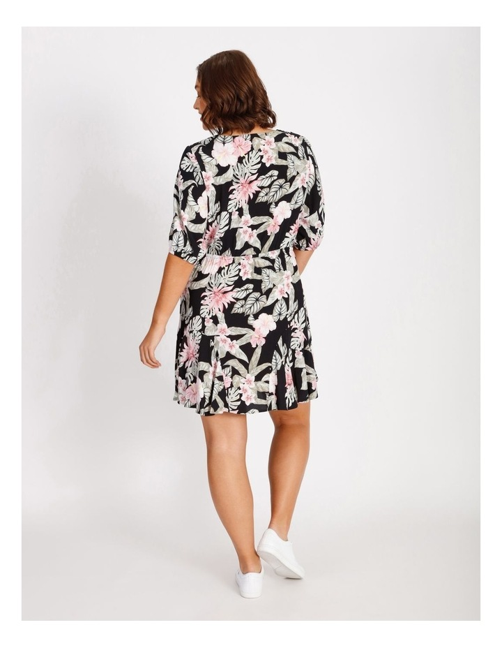 Curve Puff Sleeve Printed Mini Dress image 3