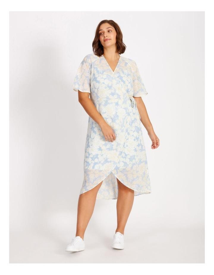 Curve Wrap Midi Dress image 1