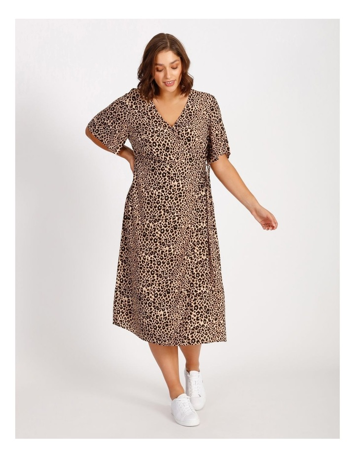 Curve Printed Wrap Midi Dress image 1