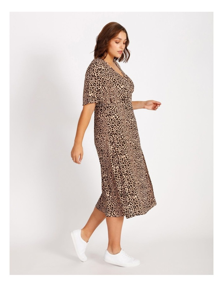 Curve Printed Wrap Midi Dress image 2