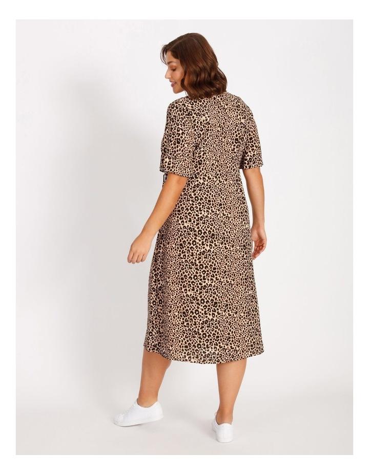 Curve Printed Wrap Midi Dress image 3