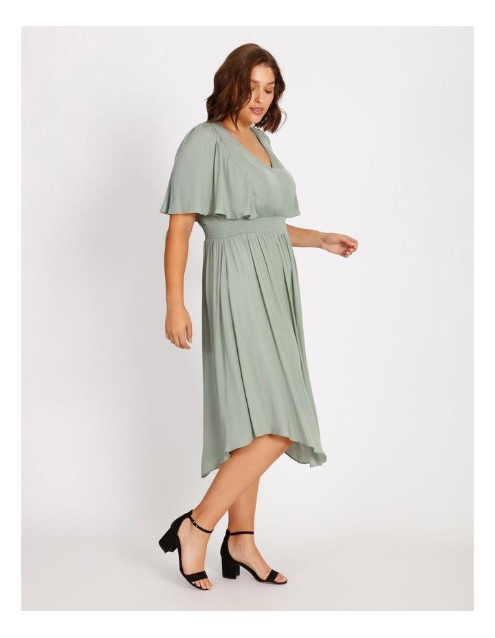 Curve Hankie Hem Satin Midi Dress image 2
