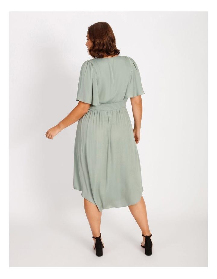 Curve Hankie Hem Satin Midi Dress image 3
