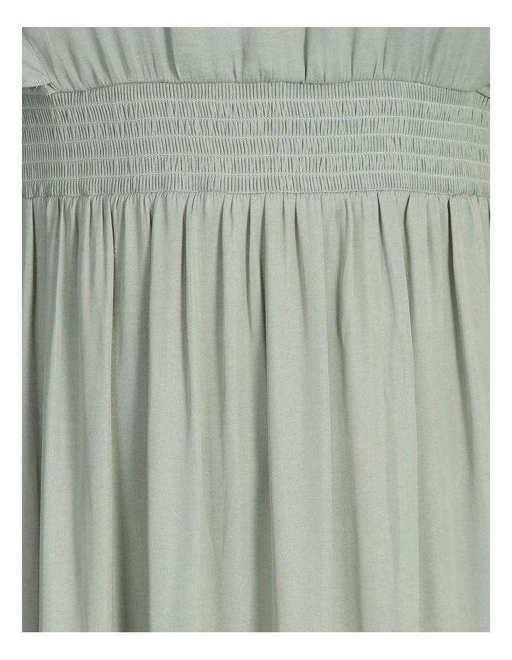 Curve Hankie Hem Satin Midi Dress image 5