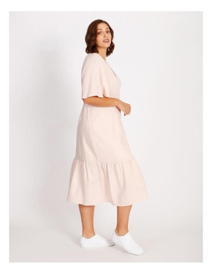 Curve Linen Blend Wrap Midi Dress image 2