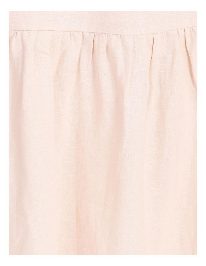 Curve Linen Blend Wrap Midi Dress image 5