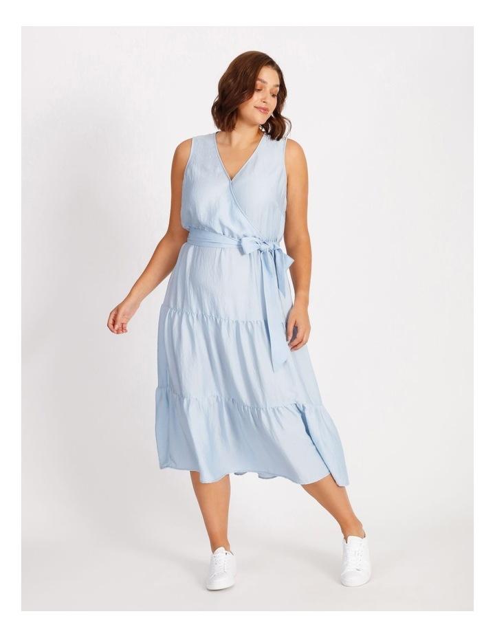 Satin Tiered Maxi Dress image 1