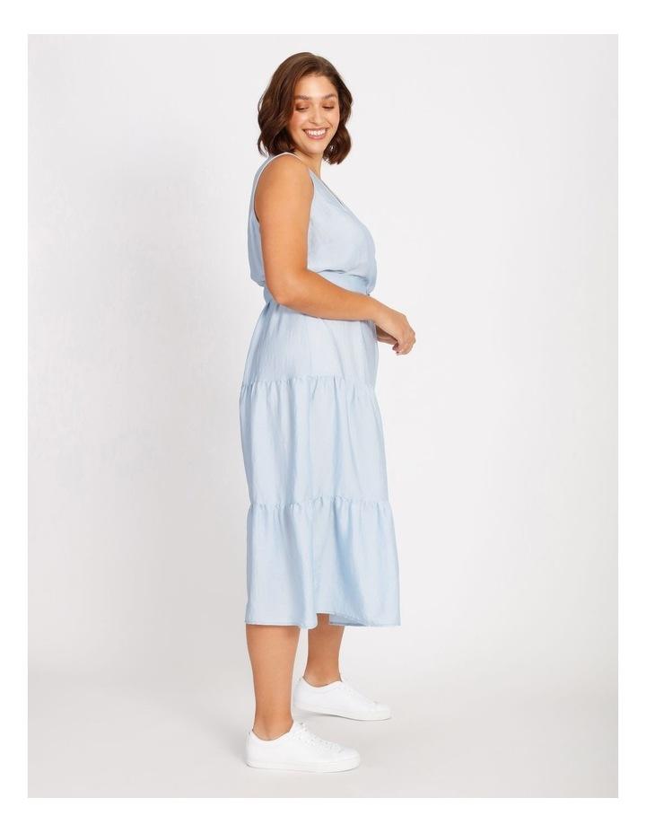 Satin Tiered Maxi Dress image 2