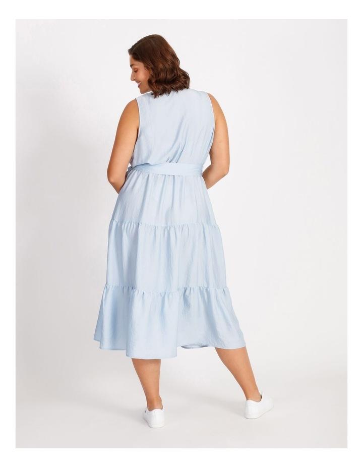 Satin Tiered Maxi Dress image 3