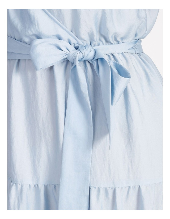 Satin Tiered Maxi Dress image 4