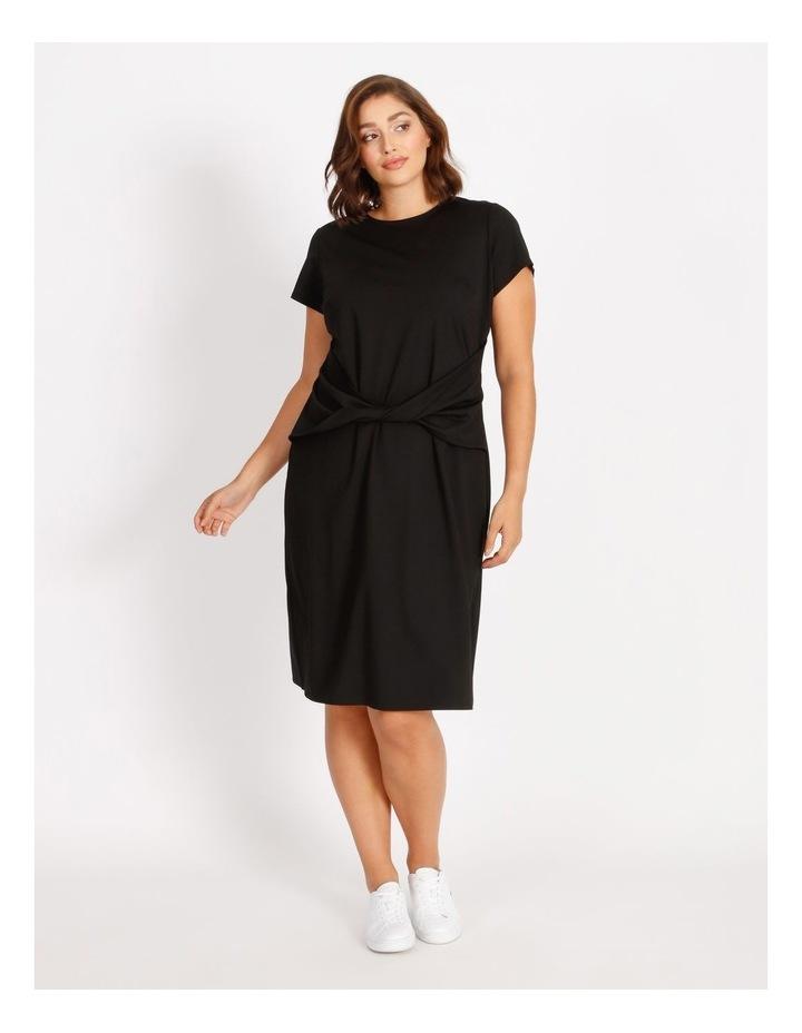 Curve Twist Jersey Midi Dress image 1