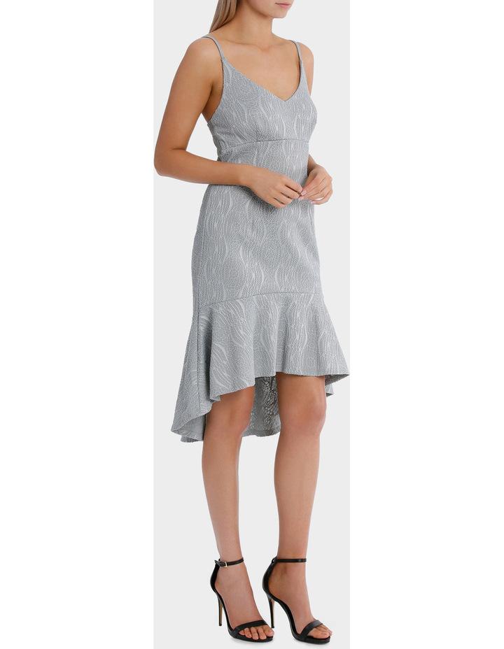 textured flounce plunge dress image 2
