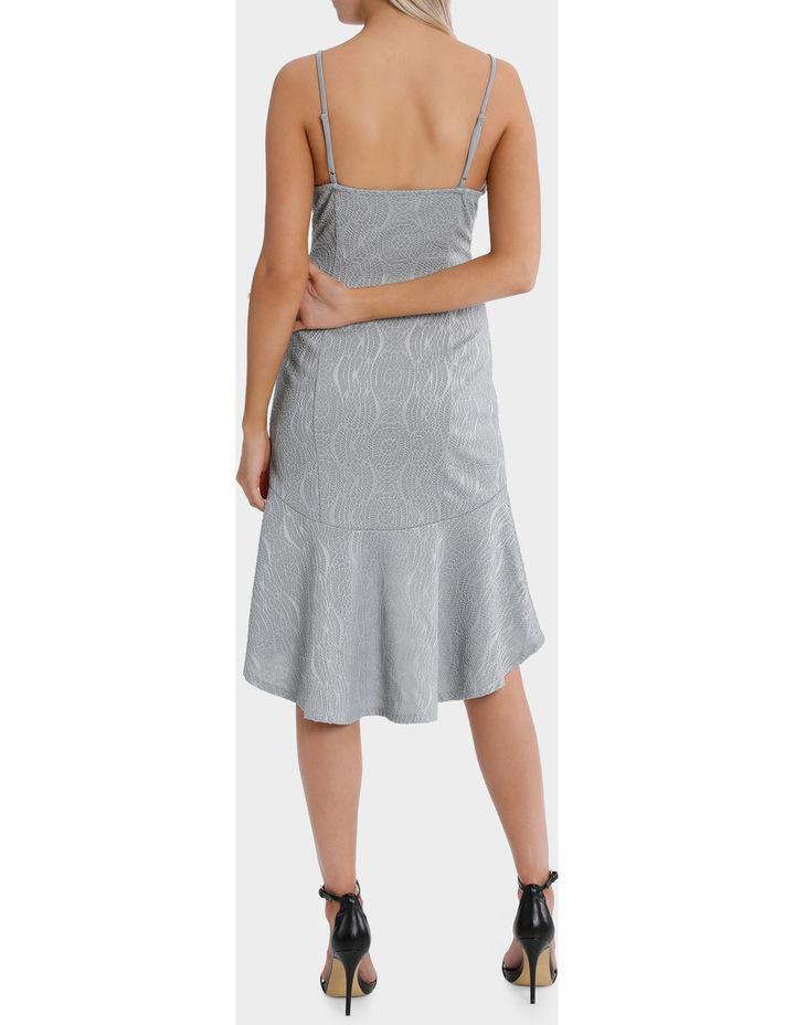 textured flounce plunge dress image 3