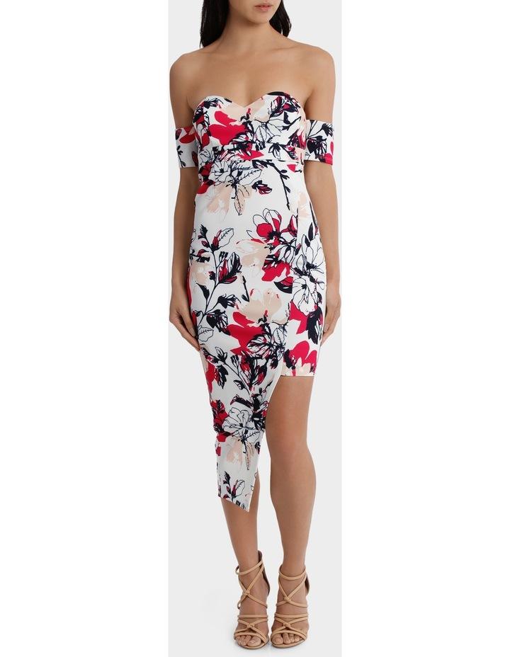 off the shoulder aysmetrical hem dress image 1