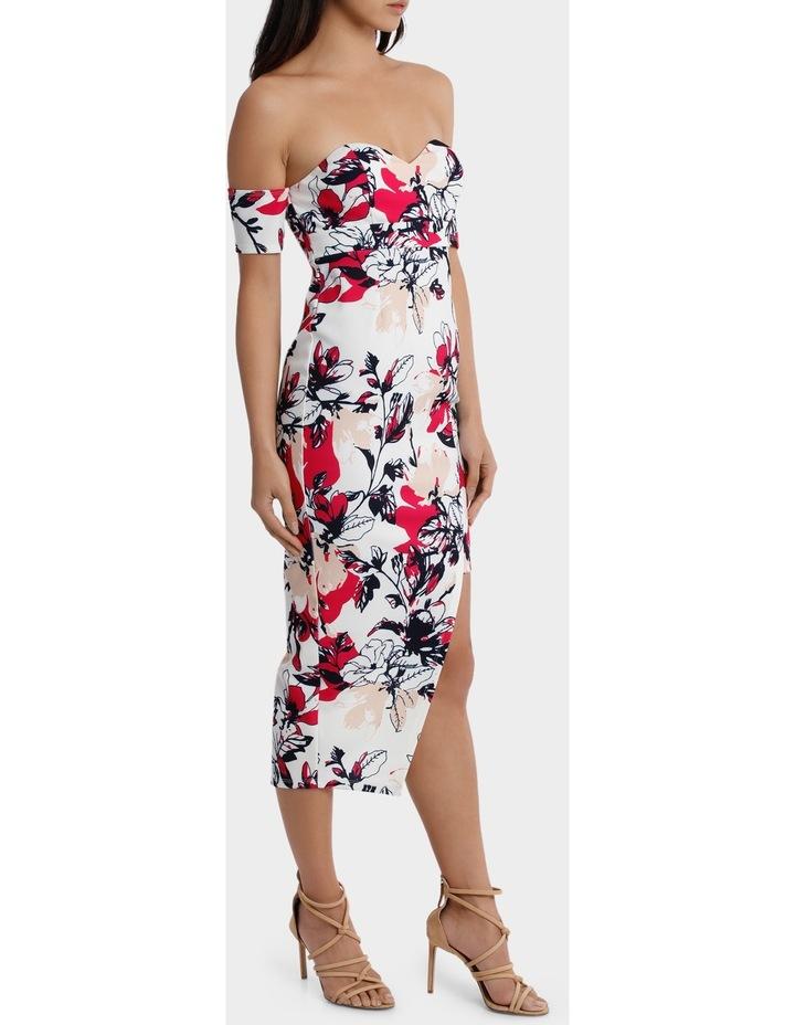 off the shoulder aysmetrical hem dress image 2