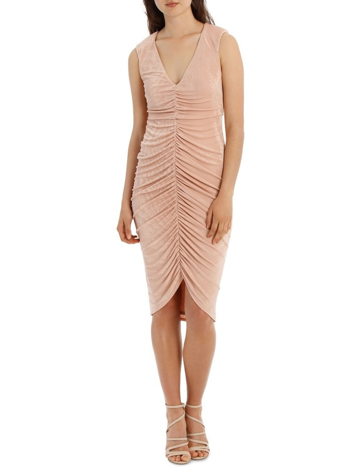 Rouched Front Bodycon Dress image 1