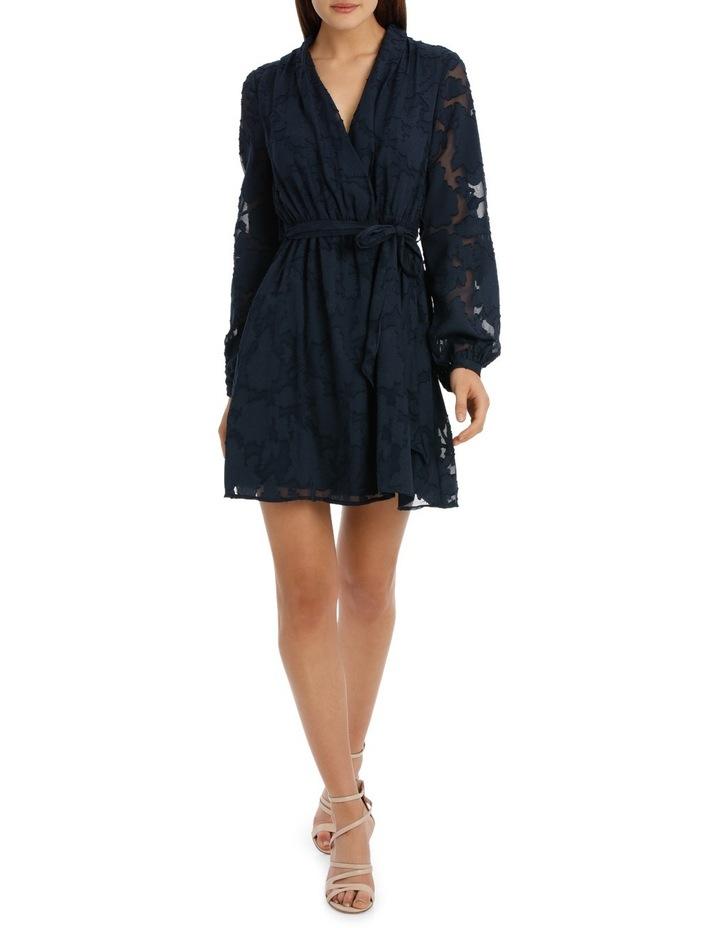 applique georgette wrap dress image 1