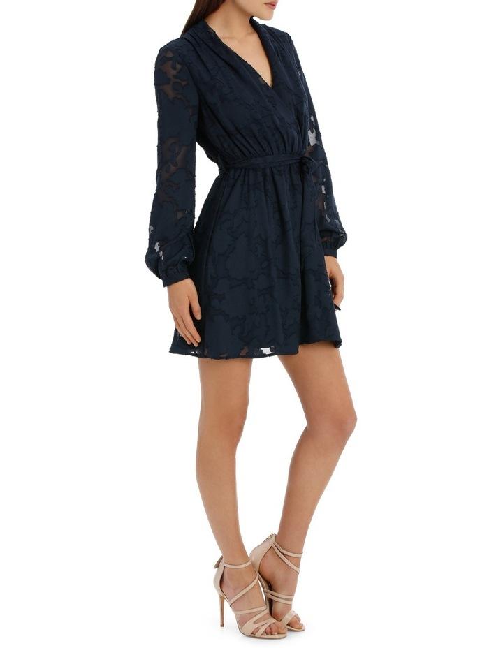 applique georgette wrap dress image 2
