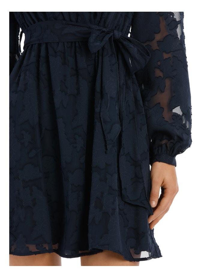 applique georgette wrap dress image 4