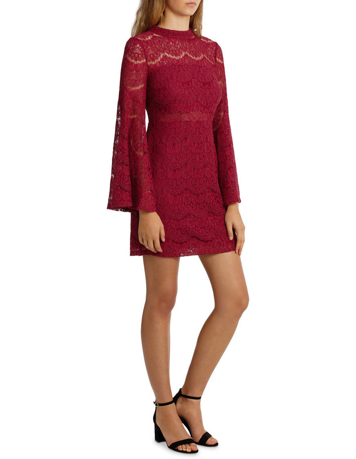 Wing Sleeve Lace Dress image 2