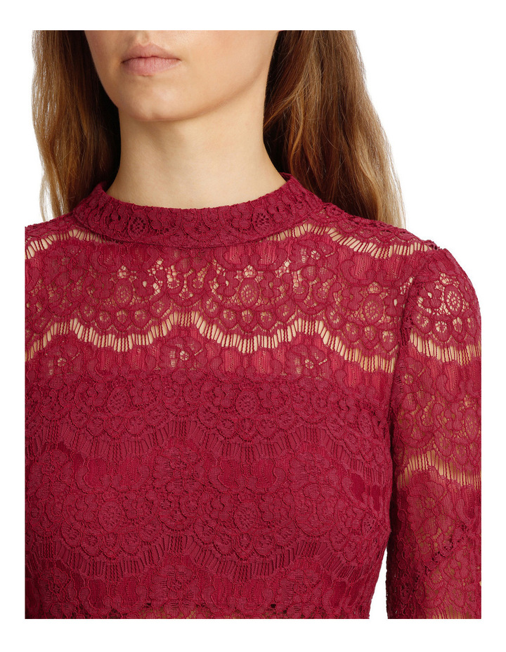 Wing Sleeve Lace Dress image 4
