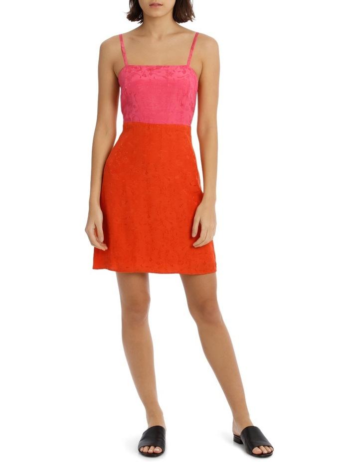 Jacqaurd Colour Block Shift Dress image 1