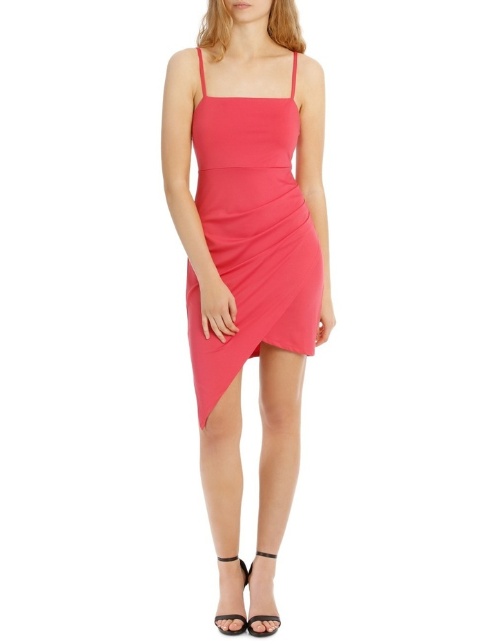 Bodycon Dress With Side Pleat And Assy Hem image 1