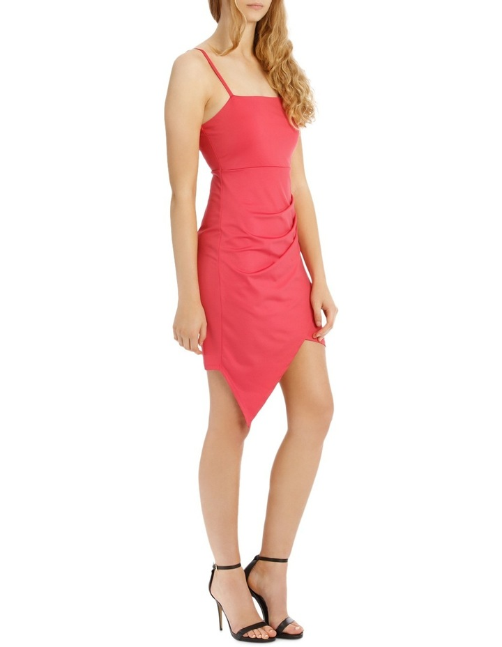 Bodycon Dress With Side Pleat And Assy Hem image 2