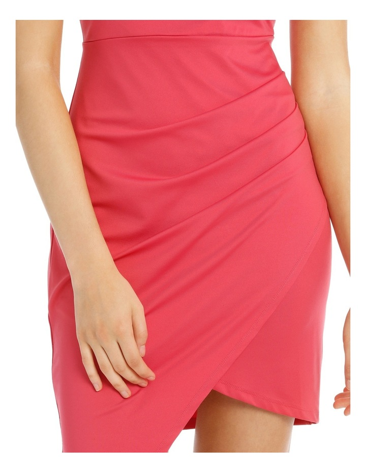 Bodycon Dress With Side Pleat And Assy Hem image 4