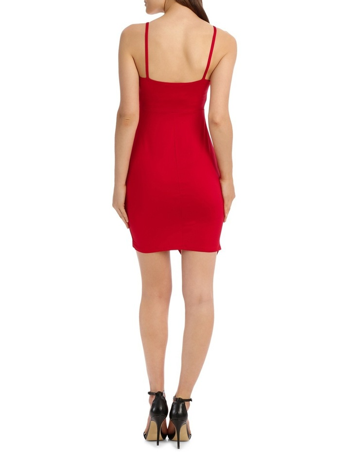 Bodycon Dress With Side Pleat And Assy Hem image 3