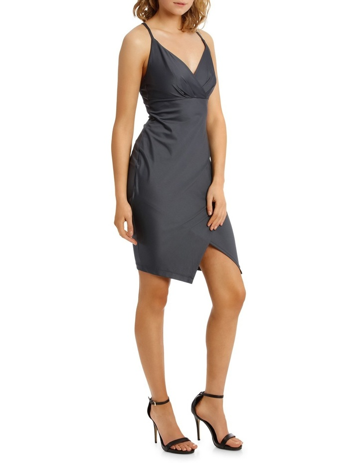 Wrap Front Bodycon With Split image 2