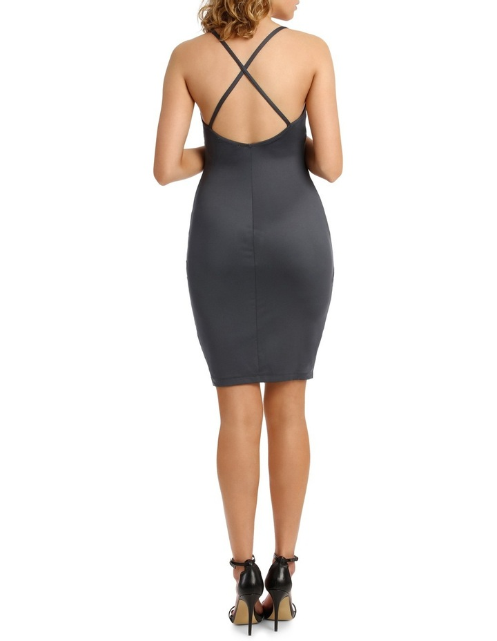 Wrap Front Bodycon With Split image 3