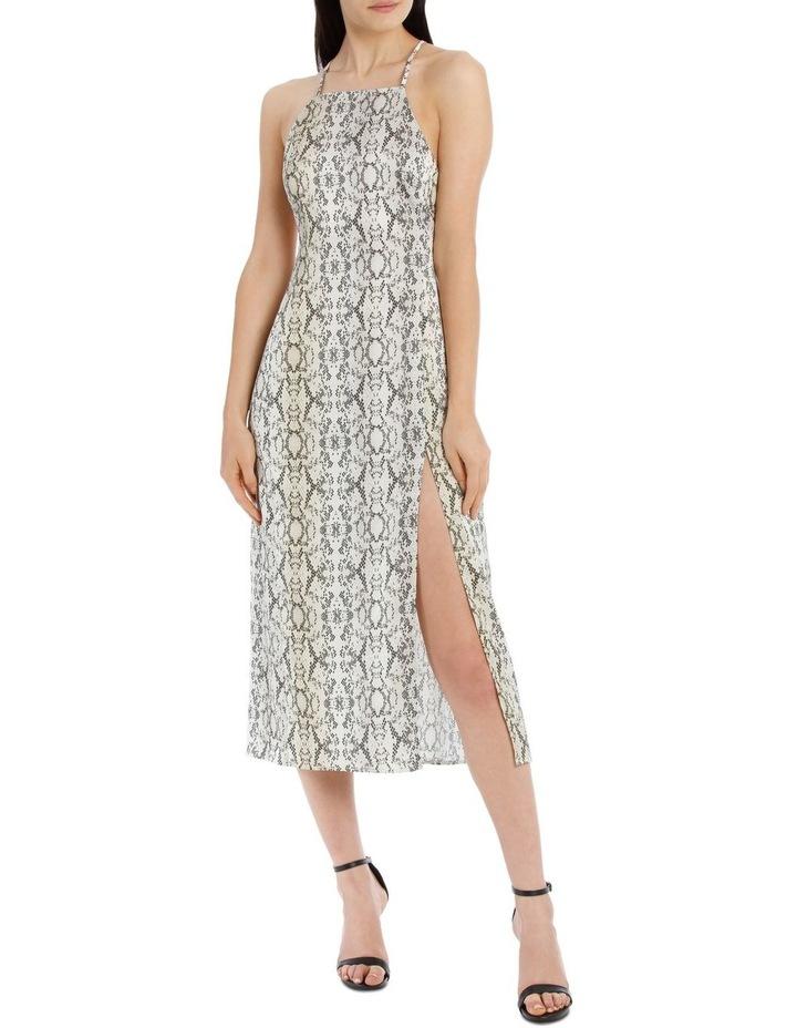 midi apron slip dress image 1