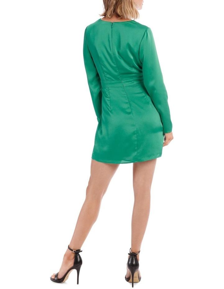 Green Long Sleeve Dress image 3