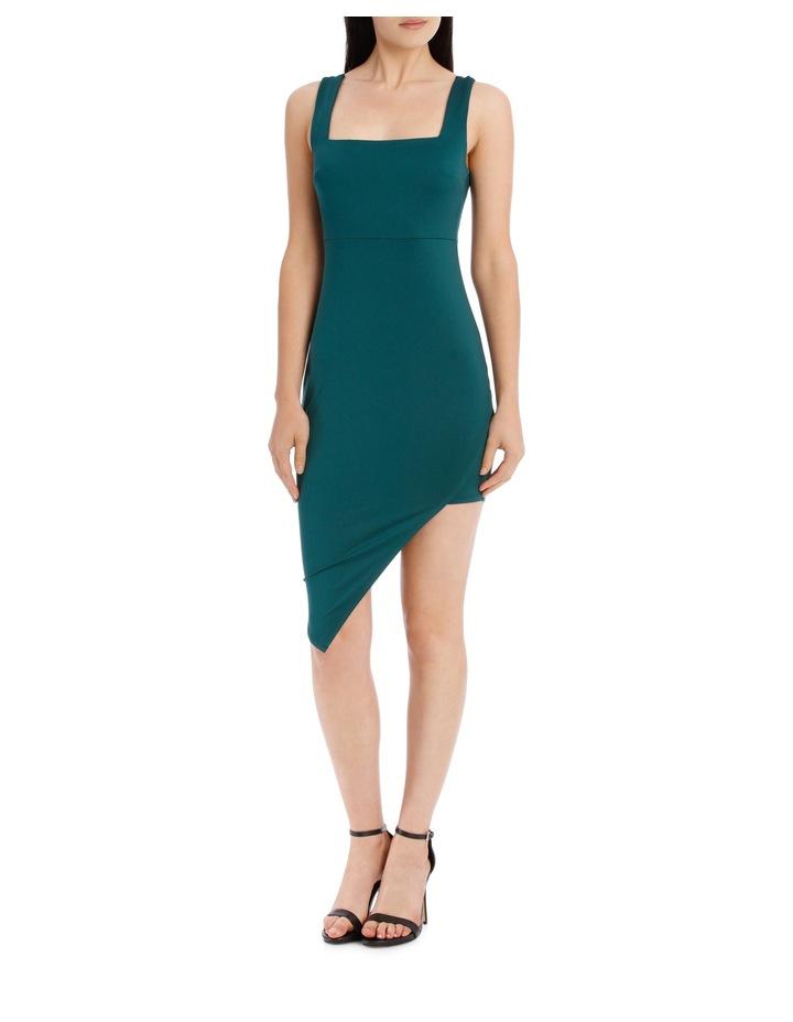 Square Neck Jersey Dress - Emerald image 1