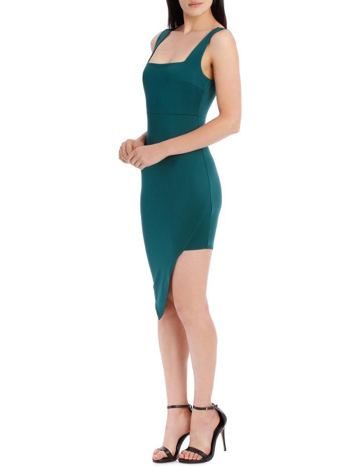 Square Neck Jersey Dress - Emerald image 3