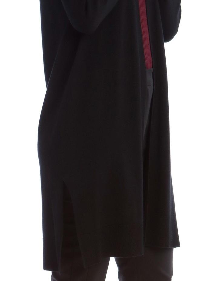 Black Long Line Cardigan image 4